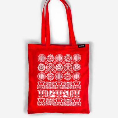 Bavlnená taška Stred červená 1