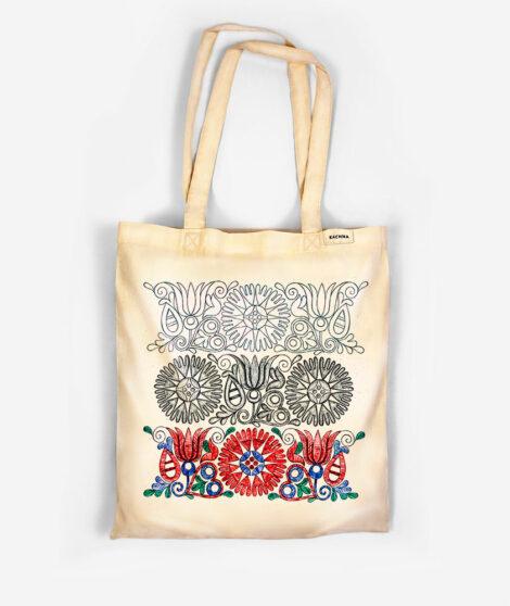 Bavlnená taška Tri obdobia kvetu 1