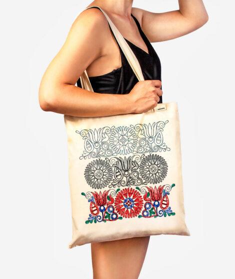 Bavlnená taška Tri obdobia kvetu 2