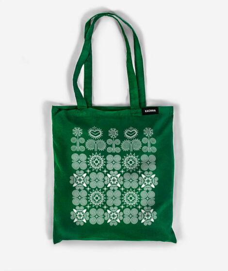 Bavlnená taška Východ zelená 1