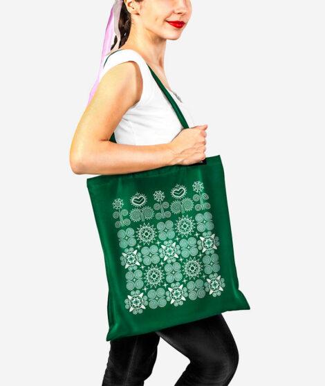 Bavlnená taška Východ zelená 2