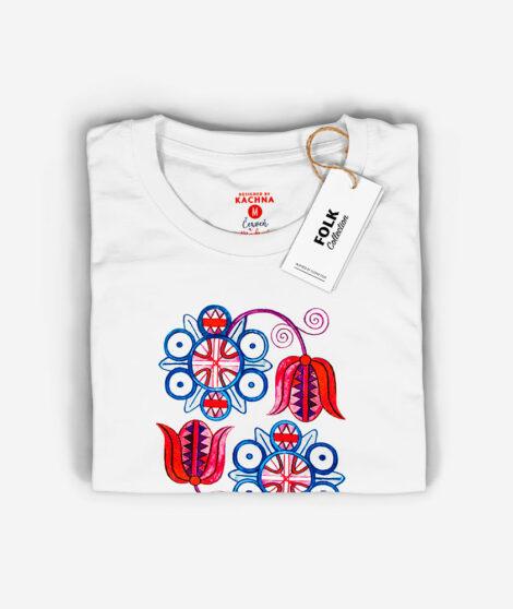 Dámske tričko Červeň a Modraň