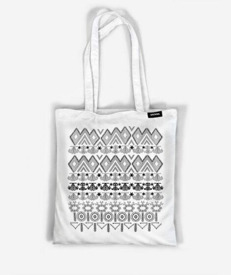 Bavlnená taška Sever biela 1