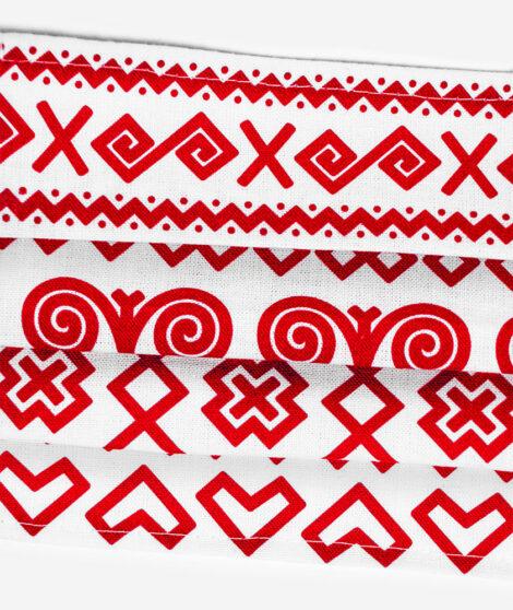 Bavlnené rúško Červené Čičmany 3