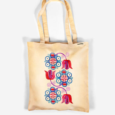 Bavlnená taška Červeň a Modraň 1
